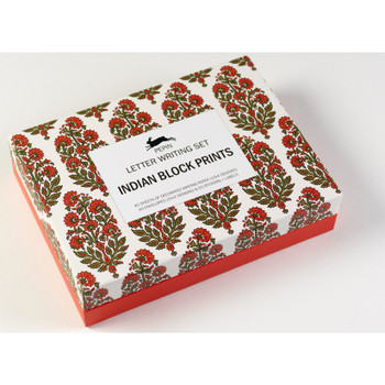 Letter Writing Set, Indian Block Print