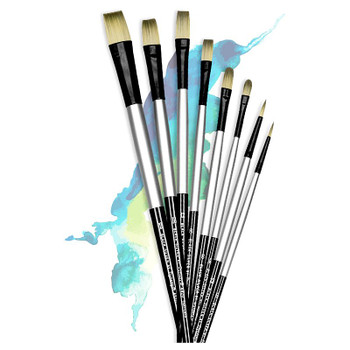 Black Silver Brushes, Long Handle