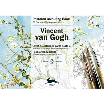 Postcard Watercolor Coloring Book, van Gogh