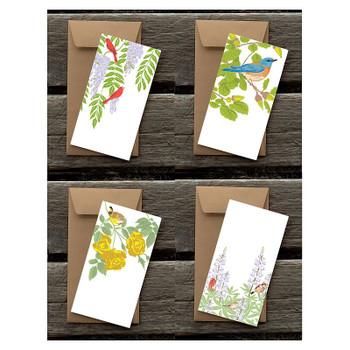 Garden Birds, Flat Cards Set