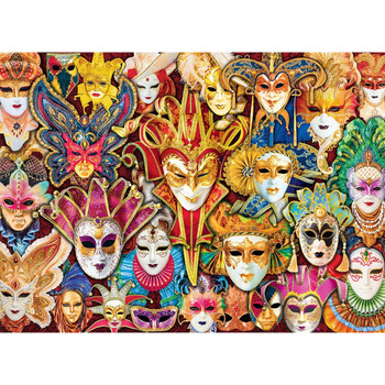 Venetian Masks Puzzle, 1000 pieces