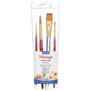Heritage Synthetic Sable Brush Set