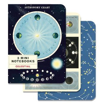 Mini Notebooks Set, Celestial