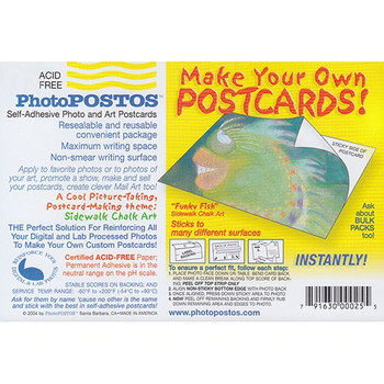 PhotoPOSTOS Self-Adhesive Postcards