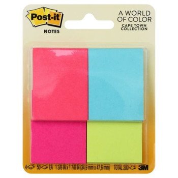 Post-it Notes 4 pack, Assorted Colors