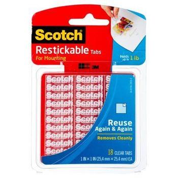 Scotch Restickable Clear Tabs