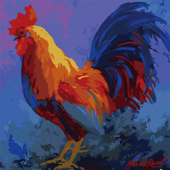 Paint By Numbers, Colorful Rooster Bob