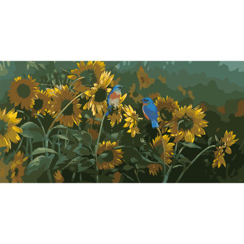 Paint By Numbers, Birds and Sunflowers