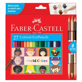 EcoPencil World Colors, Set of 27