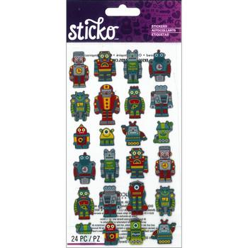 Mini Robots Stickers