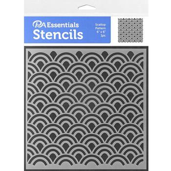 "Scallop Pattern Stencil, 6"" x 6"""