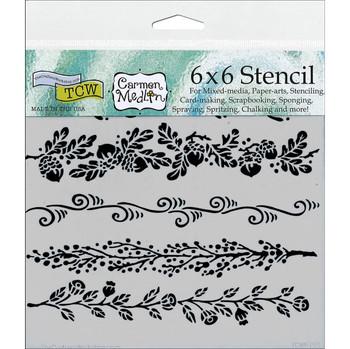 "Fanciful Borders Stencil, 6"" x 6"""