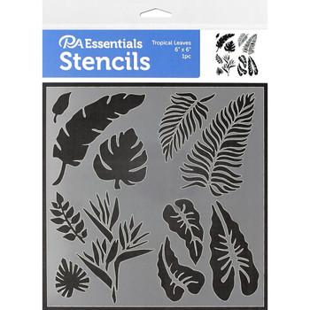 """Tropical Leaves Stencil, 6"""" x 6"""""""