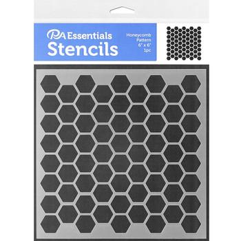 """Honeycomb Stencil, 6"""" x 6"""""""