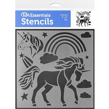 """Unicorn Stencil, 6"""" x 6"""""""