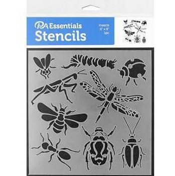 """Insects Stencil, 6"""" x 6"""""""