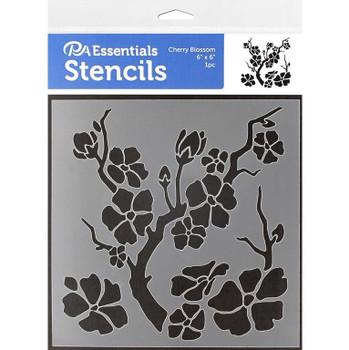 """Cherry Blossom Stencil, 6"""" x 6"""""""