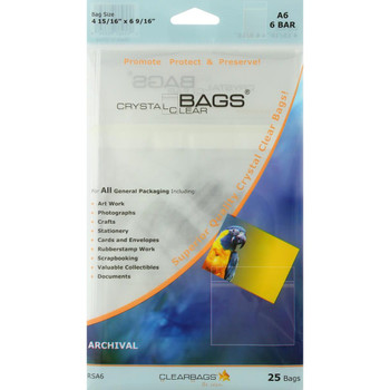 Crystal Clear Bags, 25 Pack