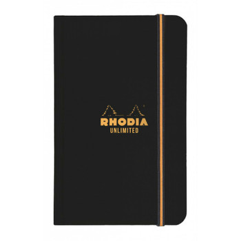 Rhodia Black Unlimited Notebook, Lined