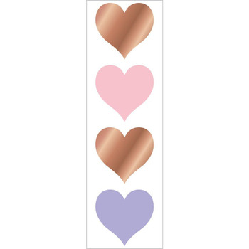 Rose Gold Hearts Stickers