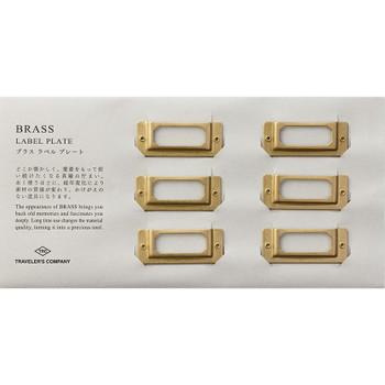 Traveler's Brass Label Plates