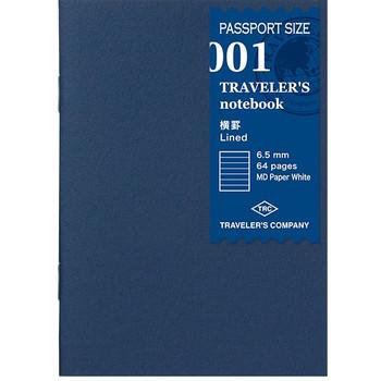 Traveler's Notebook, Passport Lined Paper Refill