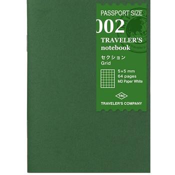 Traveler's Notebook, Passport Grid Paper Refill