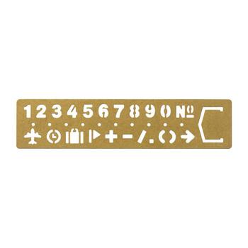Traveler's Brass Numbers Bookmark