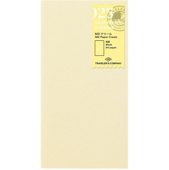 Traveler's Notebook, Regular Blank Cream Refill