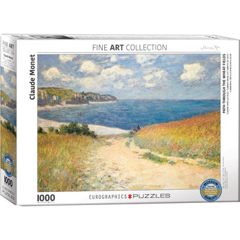 Path Though Wheat Fields Jigsaw Puzzle, 1000 Pieces