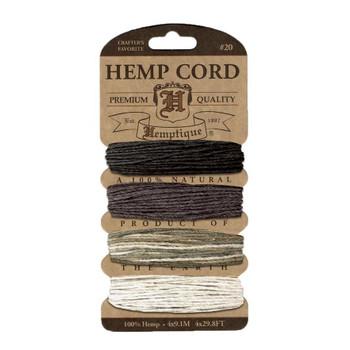 Hemp Cord Card, Earthy