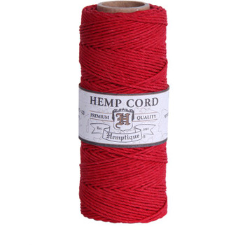 Hemp Cord, Red Spool 205'