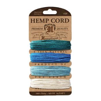 Hemp Cord Card, Aquamarine