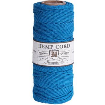 Hemp Cord, Turquoise Spool 205'