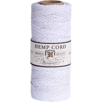 Hemp Cord, White Spool 205'