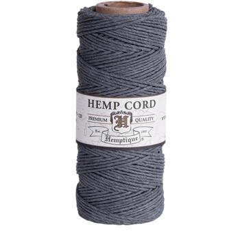 Hemp Cord, Grey Spool 205'