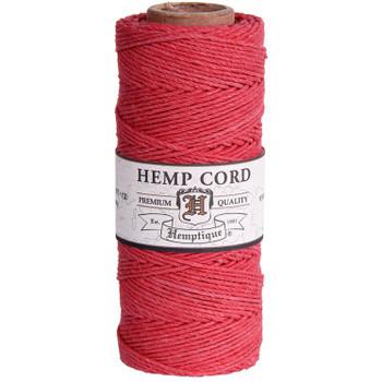 Hemp Cord, Coral Spool 205'