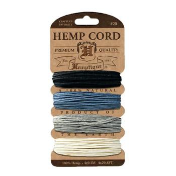 Hemp Cord Card, Shades of Onyx