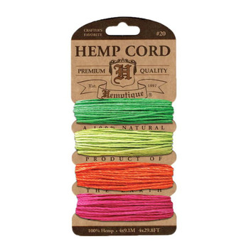 Hemp Cord Card, Neon