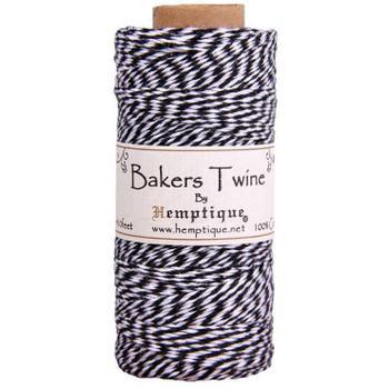 Cotton Bakers Twine, Black & White Spool