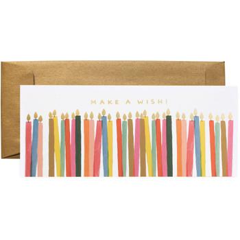 Make A Wish Candles Card