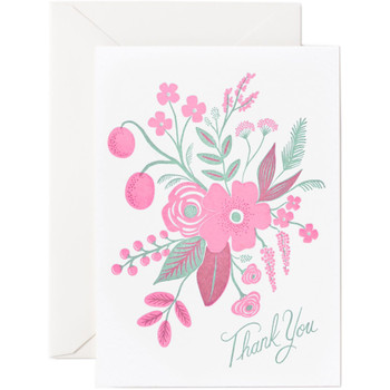 Rosy Thank You Card
