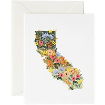 California Wildflowers Card