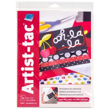 Artist-Tac Dry Adhesive Sheets