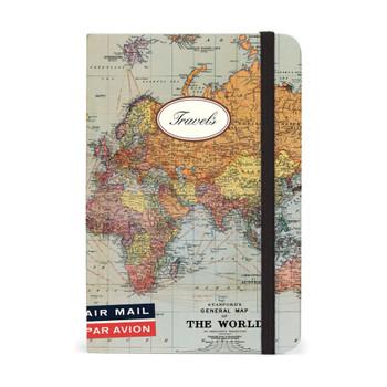 """World Map Notebook, 4"""" x 6"""""""