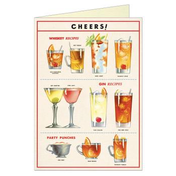 Cavallini Greeting Card, Cheers
