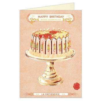 Cavallini Greeting Card, Happy Birthday Cake