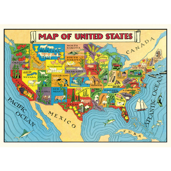 Cavallini Paper, USA Map