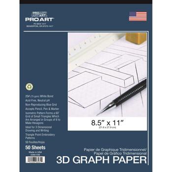 Pro Art 3D Graph Paper Pad