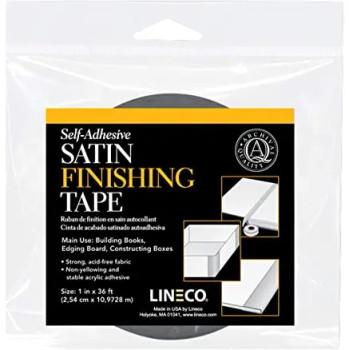 Lineco Satin Finishing Tape, Black